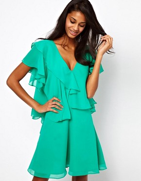Image 1 ofASOS Mini Dress With Ruffles