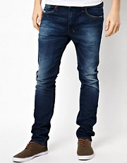 Diesel - Shioner 0806M - Jeans skinny con lavaggio scuro