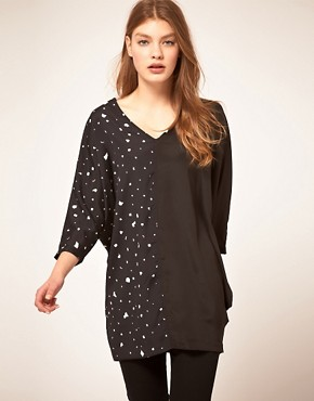 Image 1 ofTwinkle By Wenlan Across The Seam Tunic