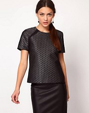 Whistles Lia Lurex Jacquard T Shirt