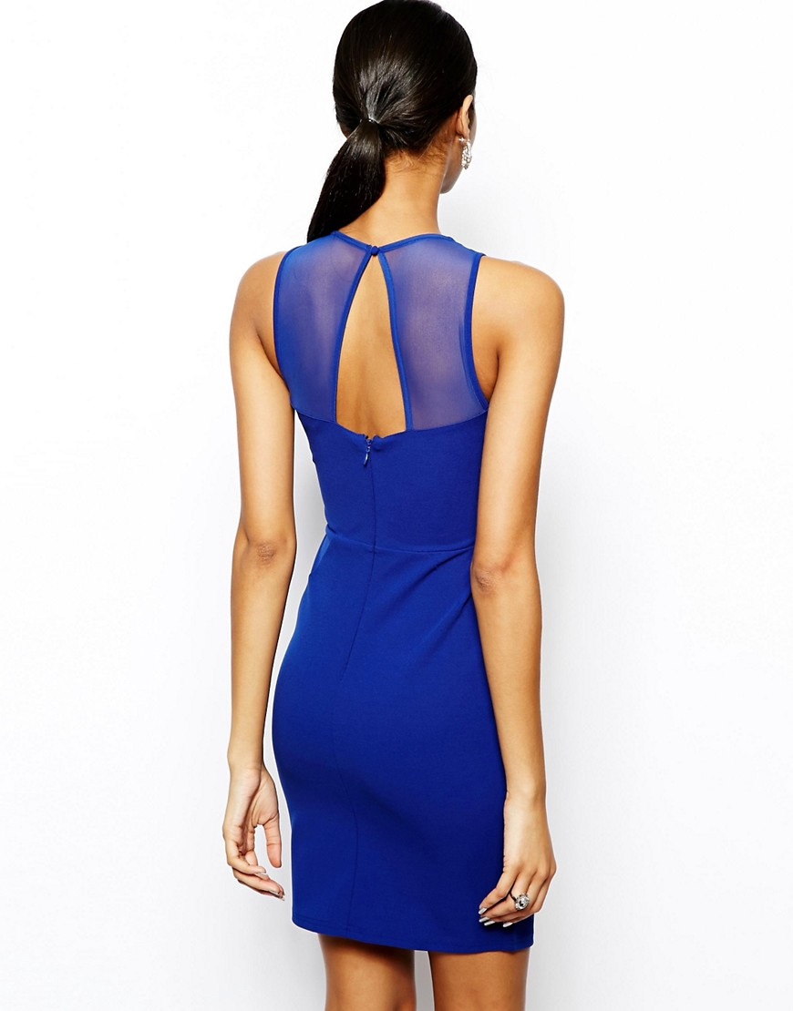 Image 2 of Lipsy Bodycon Dress with Cut Out Detail