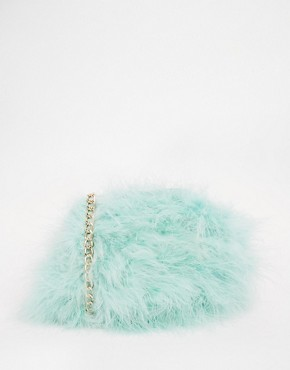 River Island Mint Fluffy Across Body Bag