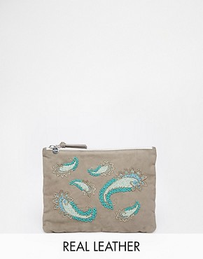 Jack Wills Embellished Pouch