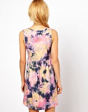 Image 2 ofASOS Smock Dress In Tie Dye Print