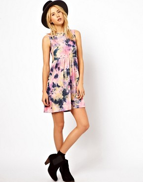 Image 4 ofASOS Smock Dress In Tie Dye Print