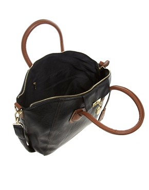 Image 2 ofASOS Front Lock Contrast Bowler Bag