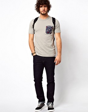 Image 4 ofG Star Marc Newson T-Shirt Contrast Print Pocket