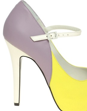 Image 2 ofASOS PRISCILLA Platform Leather High Shoes With Ankle Strap