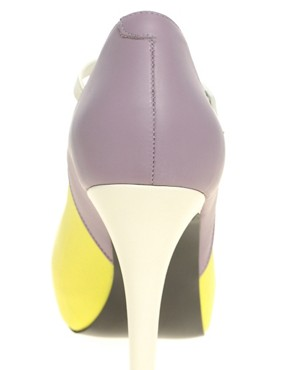 Image 3 ofASOS PRISCILLA Platform Leather High Shoes With Ankle Strap