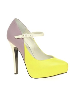Image 1 ofASOS PRISCILLA Platform Leather High Shoes With Ankle Strap