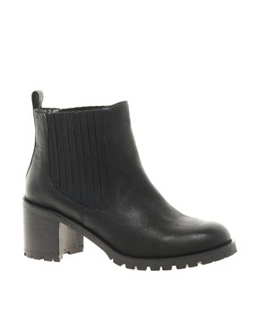 Image 1 ofASOS AUTUMN Leather Ankle Boots