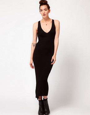 Image 1 ofAmerican Apparel Cross Back Knit Dress
