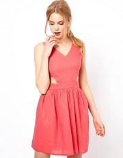 Love Skater Dress With Cut Out Detail