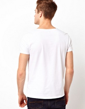 Image 2 ofASOS T-Shirt With Grandad Scoop Neck