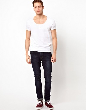 Image 4 ofASOS T-Shirt With Grandad Scoop Neck