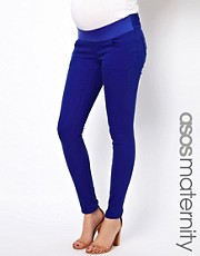 ASOS Maternity Elgin Skinny Jean In Cobalt Blue