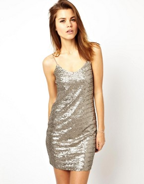 Image 1 of ASOS Sequin Cami Mini Dress