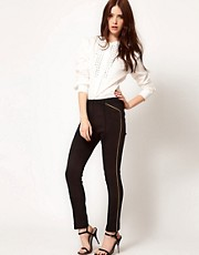 Edun Skinny Jodhpur with Contrast Piping