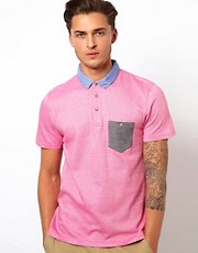 Ted Baker Polo Shirt With Contrast Pocket