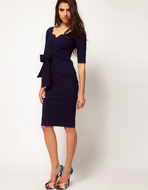 Image 4 ofHybrid Key Hole Neck 3/4 Sleeve Dress
