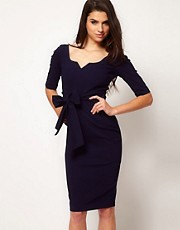 Hybrid Key Hole Neck 3/4 Sleeve Dress