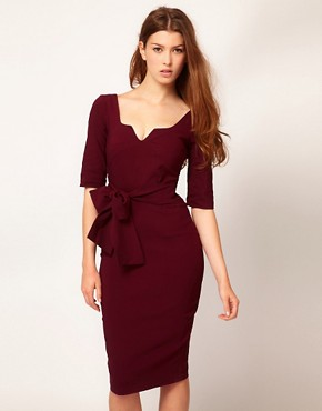 Image 1 ofHybrid Key Hole Neck 3/4 Sleeve Dress