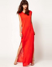 Dagmar Silk Mix Tank Dress with Side Split Detail