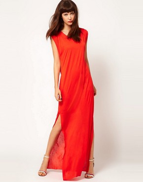 Image 1 ofDagmar Silk Mix Tank Dress with Side Split Detail