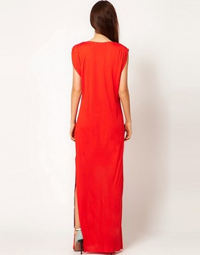 Image 2 ofDagmar Silk Mix Tank Dress with Side Split Detail