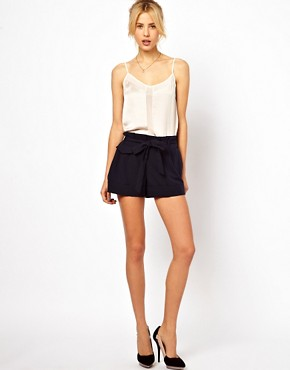 Image 4 ofASOS Cami With Skinny Straps And Mesh Panel