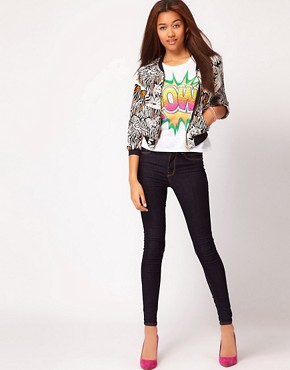 Image 4 ofRiver Island Tiger Print Bomber Jacket