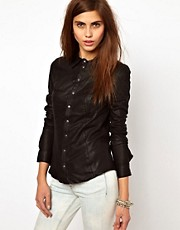 Very By Vero Moda Leather Shirt