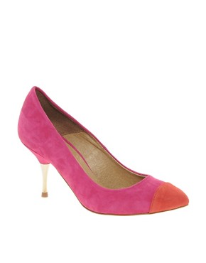 Image 1 ofASOS SIZZLE Suede Pointed Heels