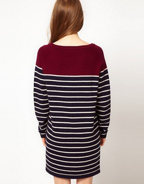 Image 2 of Fred Perry Striped Jumper Dress