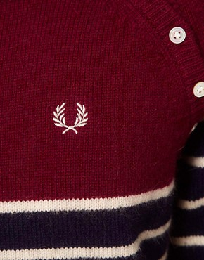 Image 3 of Fred Perry Striped Jumper Dress
