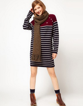 Image 4 of Fred Perry Striped Jumper Dress
