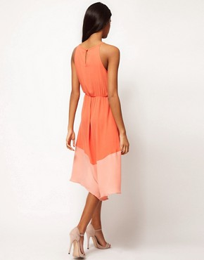 Image 2 of Glamorous Color Block Chiffon Dress
