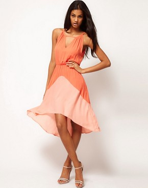 Image 1 of Glamorous Color Block Chiffon Dress