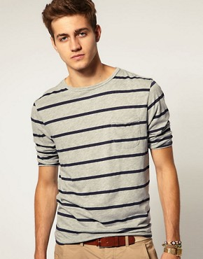 Image 1 ofASOS 3/4 Sleeve T-Shirt With Pocket