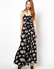 Viva Vena Art Collector Maxi Dress with Knot Front Detail