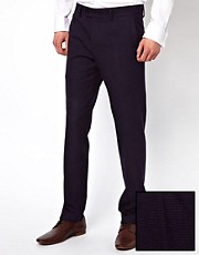 Caxton Skinny Fit Check Trousers
