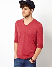 ASOS Long Sleeve T-Shirt With V Neck