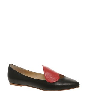 Image 1 ofPeter Jensen Exclusive Colour Block Heart Ballet Pump