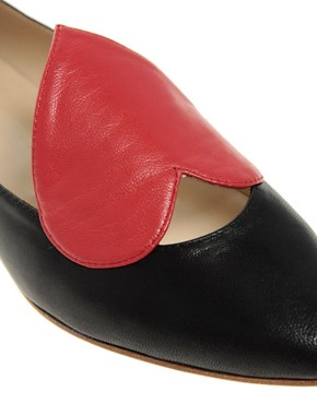 Image 2 ofPeter Jensen Exclusive Colour Block Heart Ballet Pump