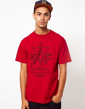 Image 1 ofHuf T-Shirt Aged Logo