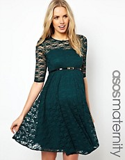 ASOS Maternity  Kurzkleid aus Spitze mit Grtel