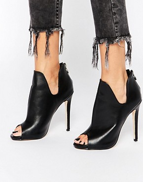 Truffle Collection Rita Peeptoe Heeled Shoe Boots