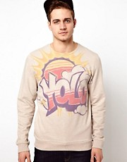 ASOS Sweatshirt With YOLO Print