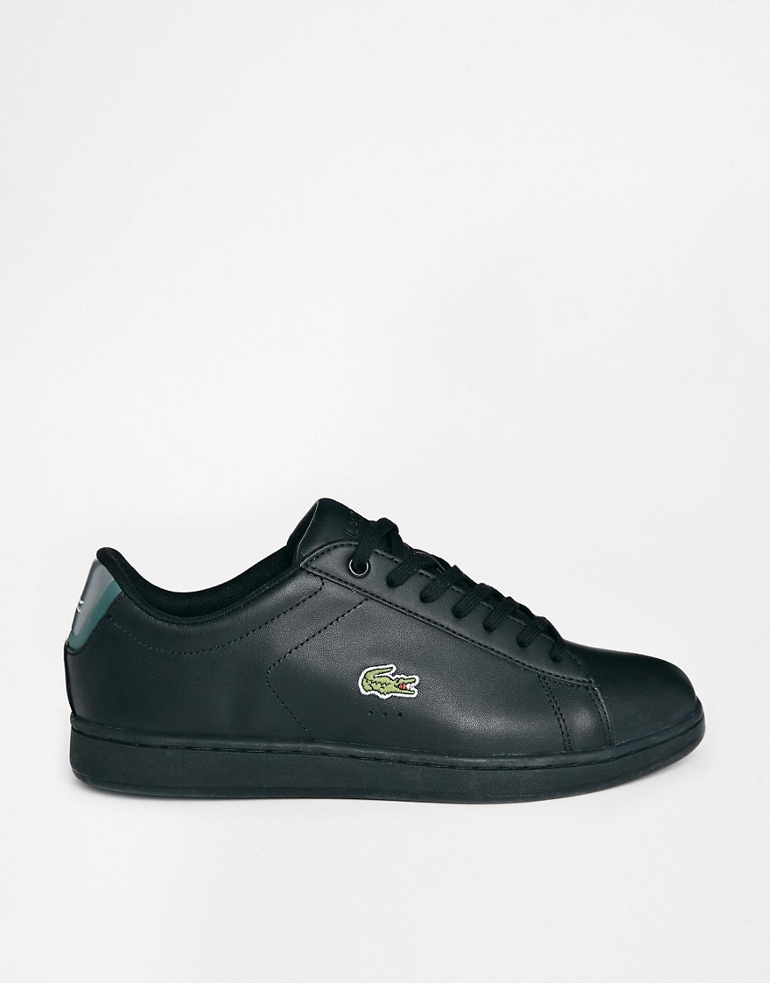 lacoste lacoste carnaby evo csd baskets en cuir noir chez asos. Black Bedroom Furniture Sets. Home Design Ideas