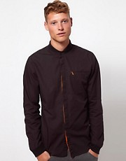 ASOS BLACK x Puma Rib Collar Shirt
